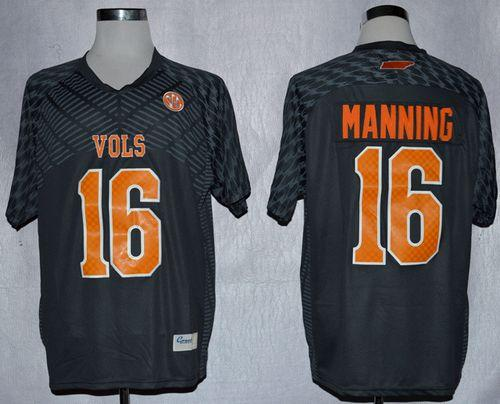 Vols #16 Peyton Manning Smokey Grey New Stitched NCAA Jersey