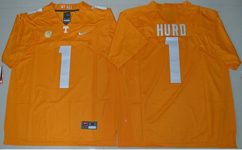 Vols #1 Jalen Hurd Orange Stitched NCAA Jersey