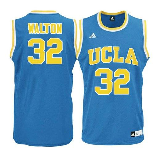 Bruins #32 Bill Walton Blue Basketball Stitched NCAA Jersey
