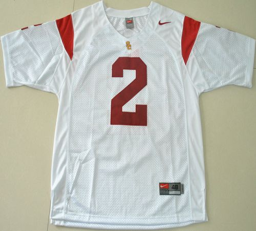 Trojans #2 Robert Woods White Stitched NCAA Jersey