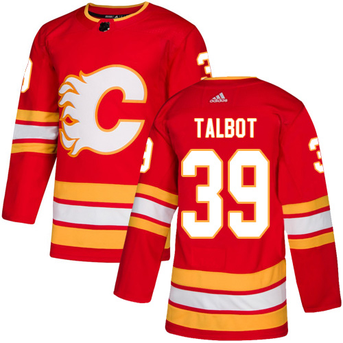 Adidas Flames #39 Cam Talbot Red Alternate Authentic Stitched NHL Jersey