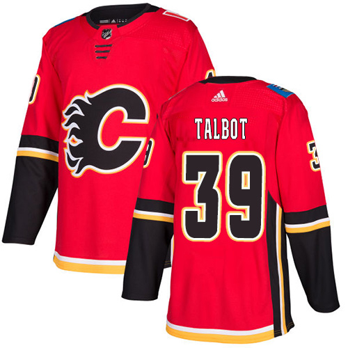 Adidas Flames #39 Cam Talbot Red Home Authentic Stitched NHL Jersey
