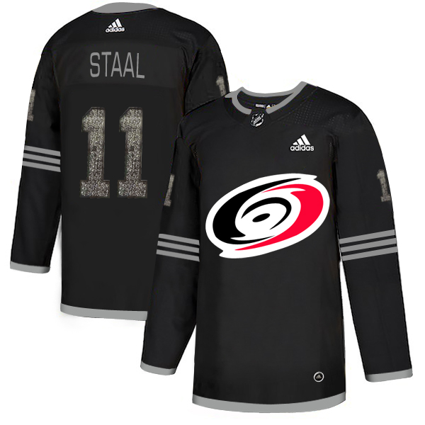 Adidas Hurricanes #11 Jordan Staal Black Authentic Classic Stitched NHL Jersey