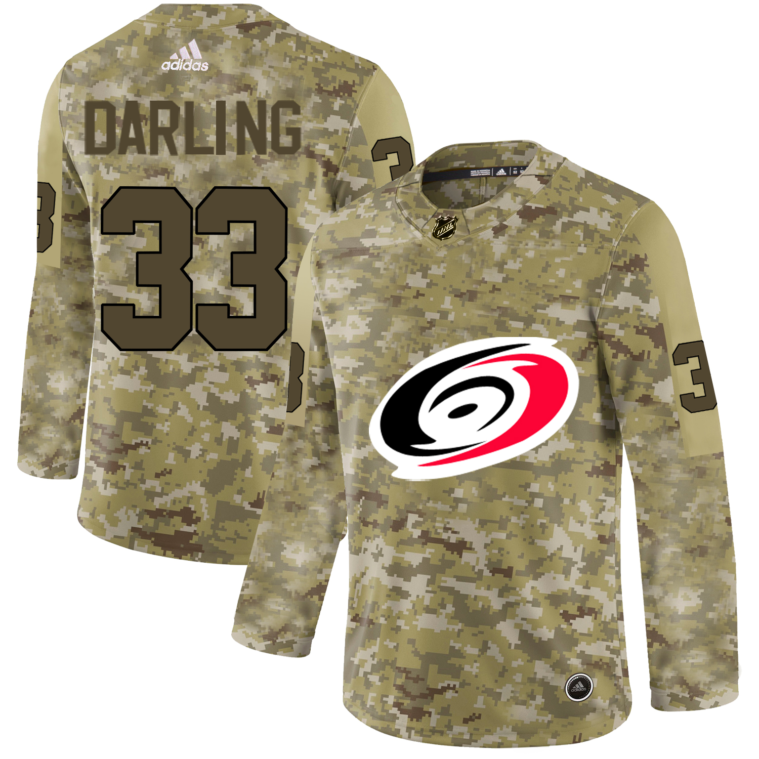 Adidas Hurricanes #33 Scott Darling Camo Authentic Stitched NHL Jersey