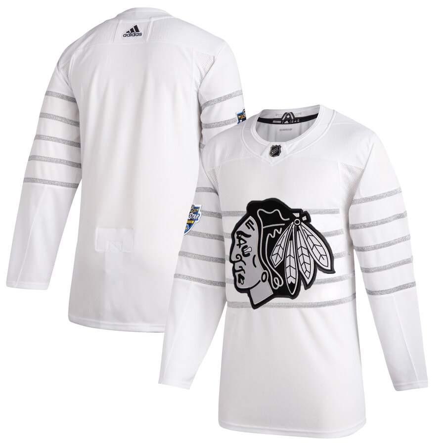 Men's Chicago Blackhawks Adidas White 2020 NHL All-Star Game Authentic Jersey
