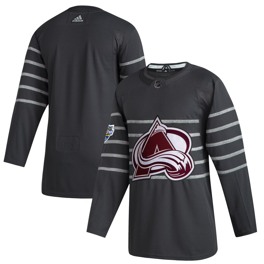Men's Colorado Avalanche Adidas Gray 2020 NHL All-Star Game Authentic Jersey