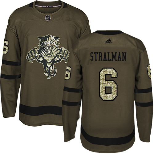 Adidas Panthers #6 Anton Stralman Green Salute to Service Stitched NHL Jersey