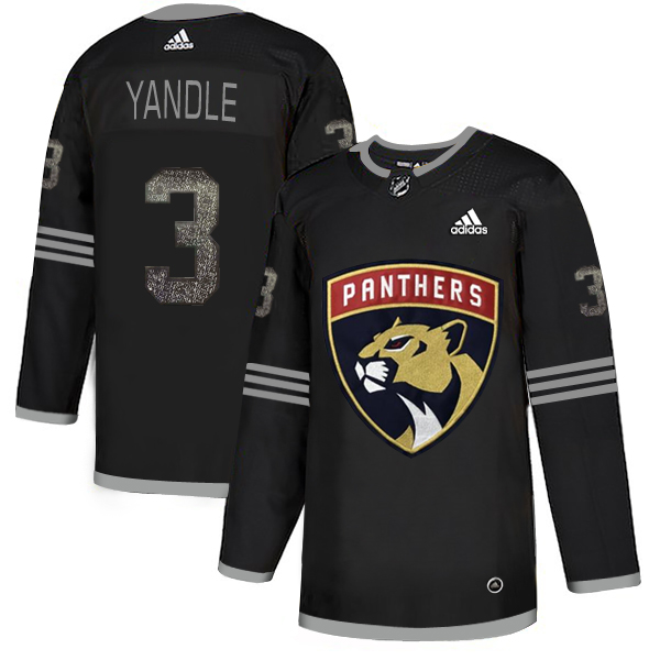 Adidas Panthers #3 Keith Yandle Black Authentic Classic Stitched NHL Jersey