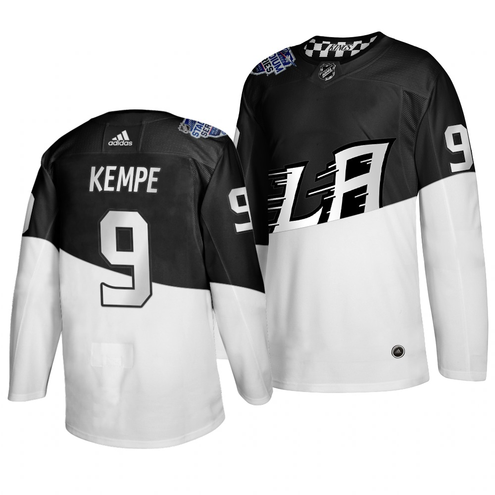 Adidas Los Angeles Kings #9 Adrian Kempe Men's 2020 Stadium Series White Black Stitched NHL Jersey