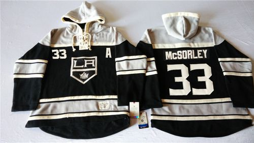 Kings #33 Marty Mcsorley Black Sawyer Hooded Sweatshirt Stitched NHL Jersey