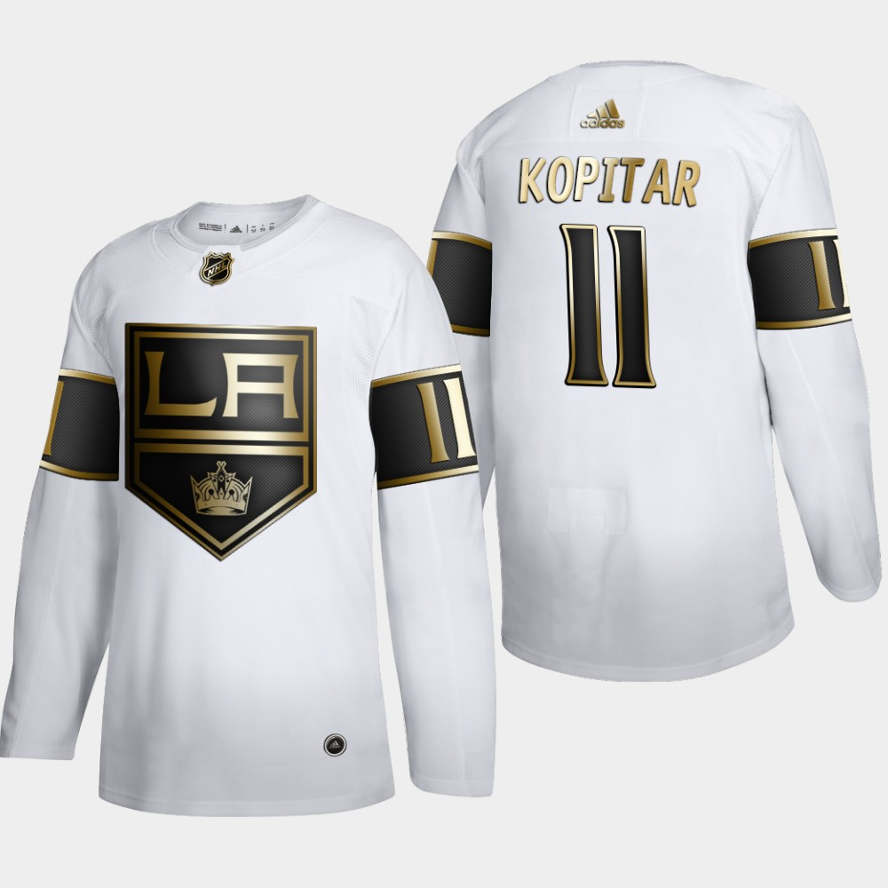 Los Angeles Kings #11 Anze Kopitar Men's Adidas White Golden Edition Limited Stitched NHL Jersey