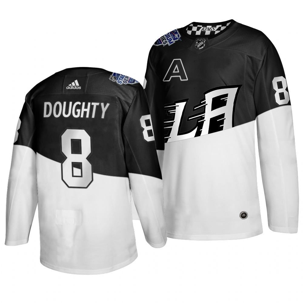 Adidas Los Angeles Kings #8 Drew Doughty Men's 2020 Stadium Series White Black Stitched NHL Jersey