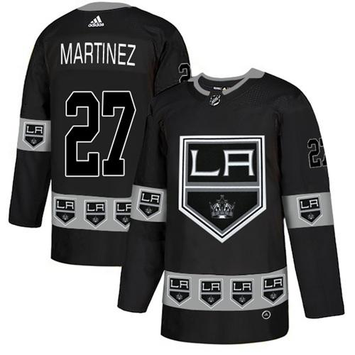 Adidas Kings #27 Alec Martinez Black Authentic Team Logo Fashion Stitched NHL Jersey