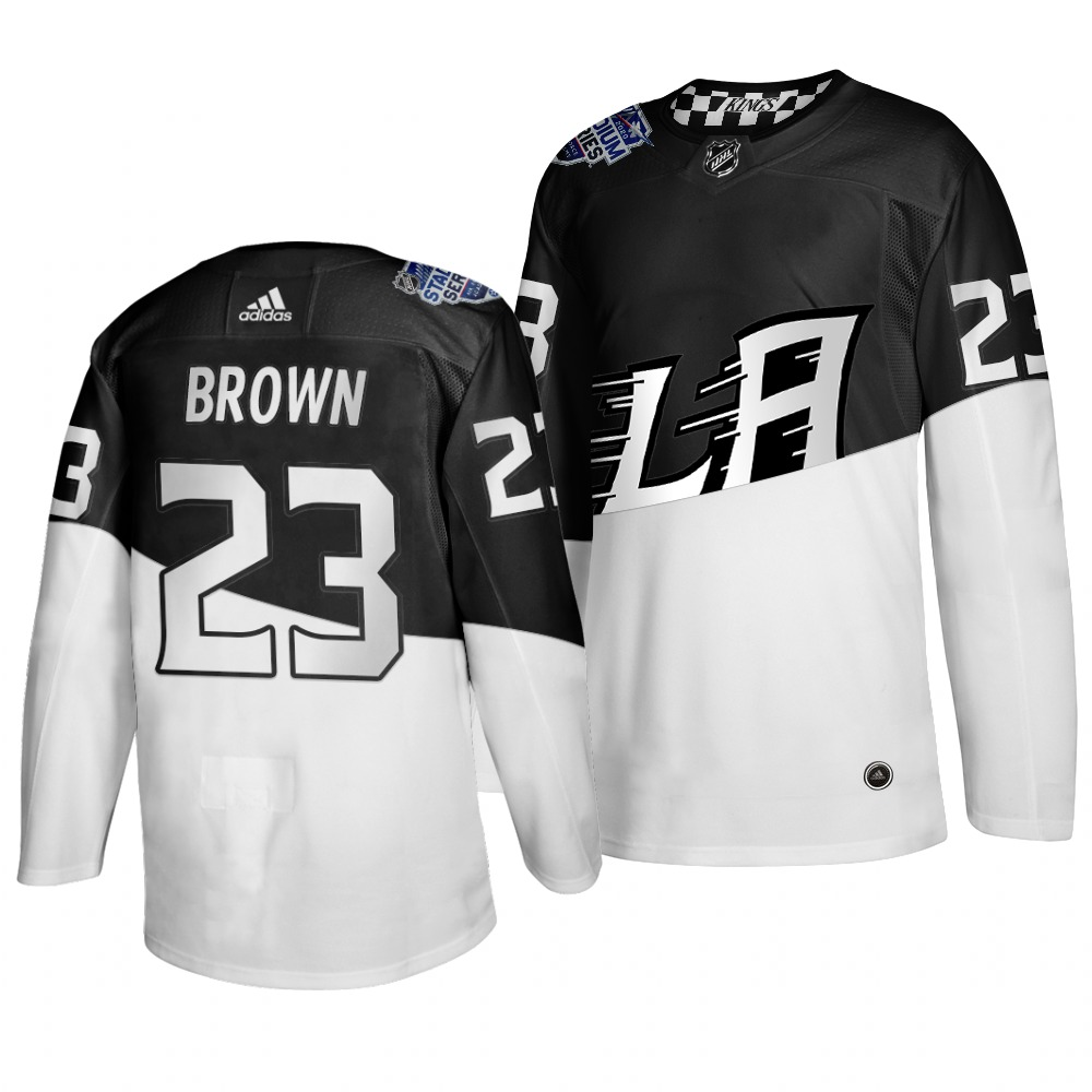 Adidas Los Angeles Kings #23 Dustin Brown Men's 2020 Stadium Series White Black Stitched NHL Jersey
