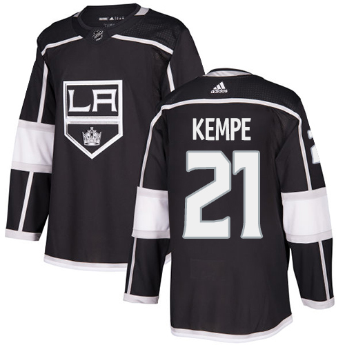 Adidas Kings #21 Mario Kempe Black Home Authentic Stitched NHL Jersey
