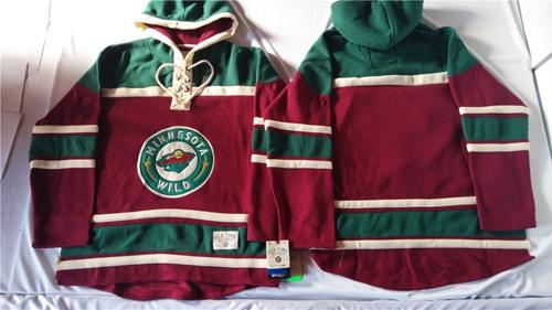 Wild Blank Red Sawyer Hooded Sweatshirt Stitched NHL Jersey