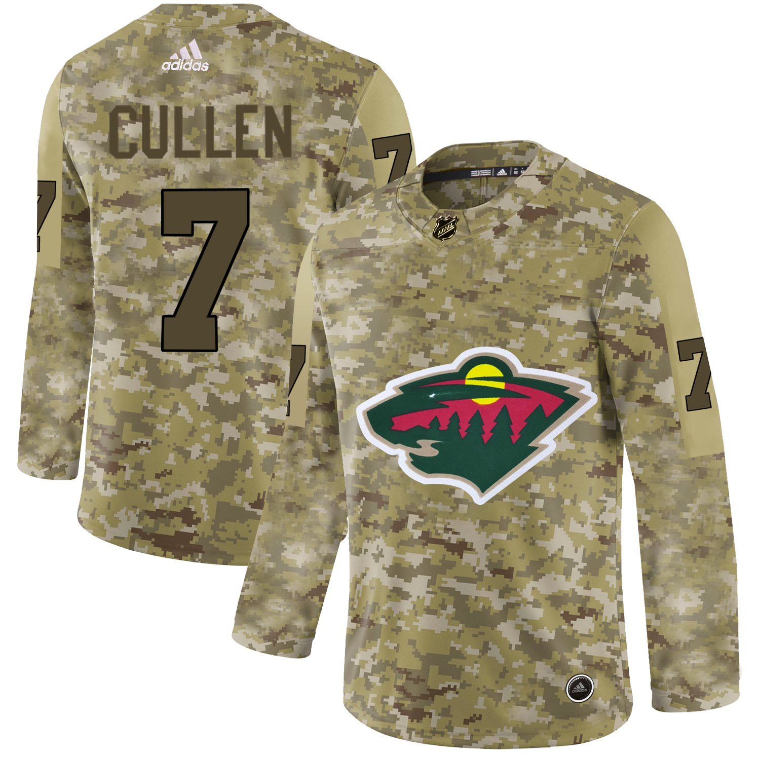Adidas Wild #7 Matt Cullen Camo Authentic Stitched NHL Jersey