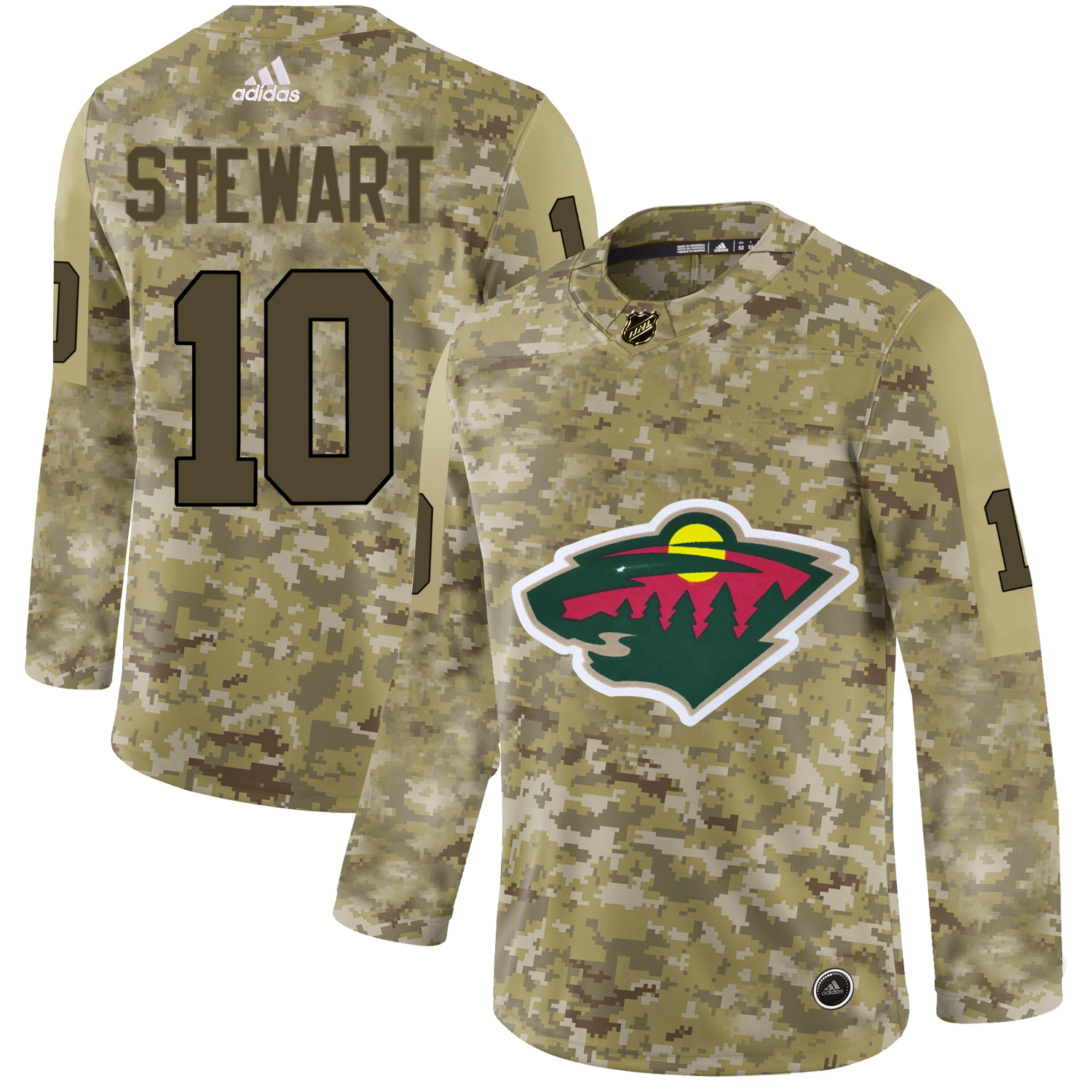 Adidas Wild #10 Cam Stewart Camo Authentic Stitched NHL Jersey