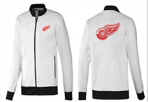 NHL Detroit Red Wings Zip Jackets White-1