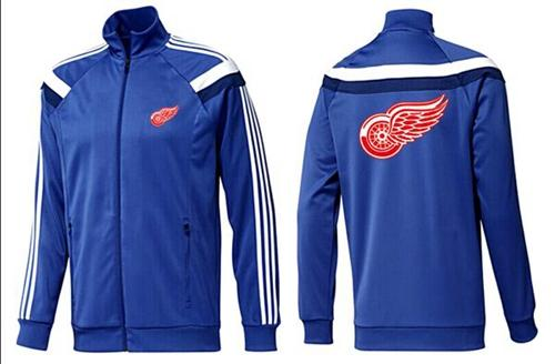 NHL Detroit Red Wings Zip Jackets Blue-4