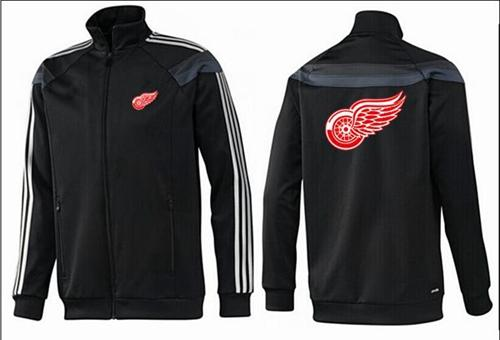 NHL Detroit Red Wings Zip Jackets Black-2