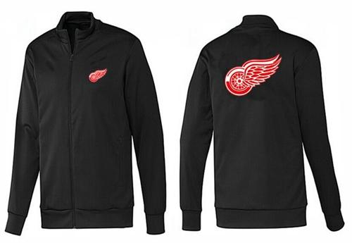 NHL Detroit Red Wings Zip Jackets Black-1