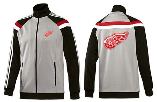 NHL Detroit Red Wings Zip Jackets Grey