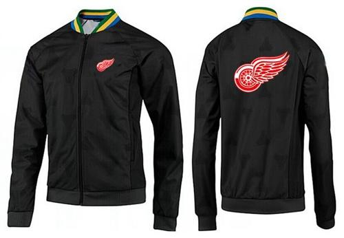 NHL Detroit Red Wings Zip Jackets Black-3