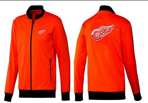 NHL Detroit Red Wings Zip Jackets Orange-1