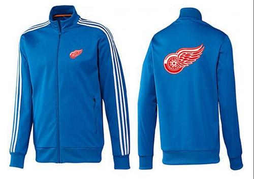 NHL Detroit Red Wings Zip Jackets Blue-2