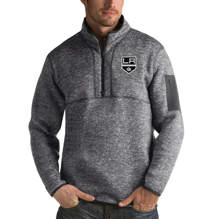 Los Angeles Kings Antigua Fortune Quarter-Zip Pullover Jacket Black