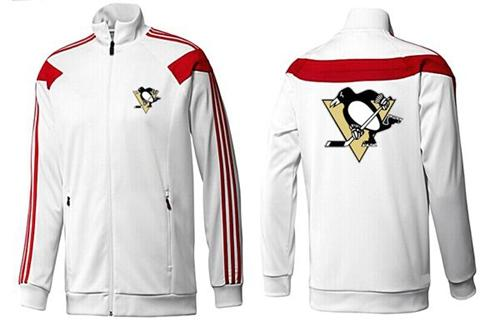 NHL Pittsburgh Penguins Zip Jackets White-2