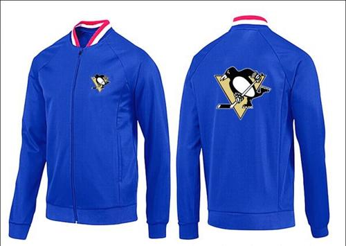 NHL Pittsburgh Penguins Zip Jackets Blue-1