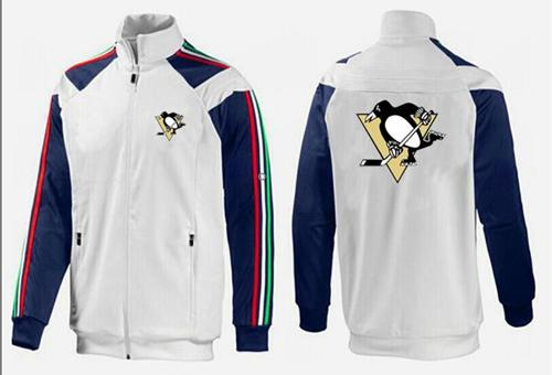 NHL Pittsburgh Penguins Zip Jackets White-1