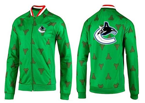 NHL Vancouver Canucks Zip Jackets Green-2