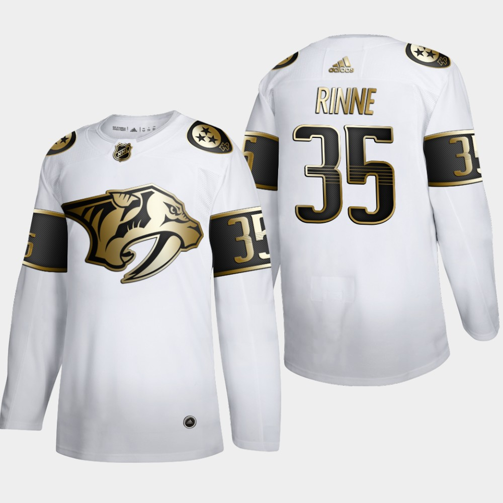 Nashville Predators #35 Pekka Rinne Men's Adidas White Golden Edition Limited Stitched NHL Jersey