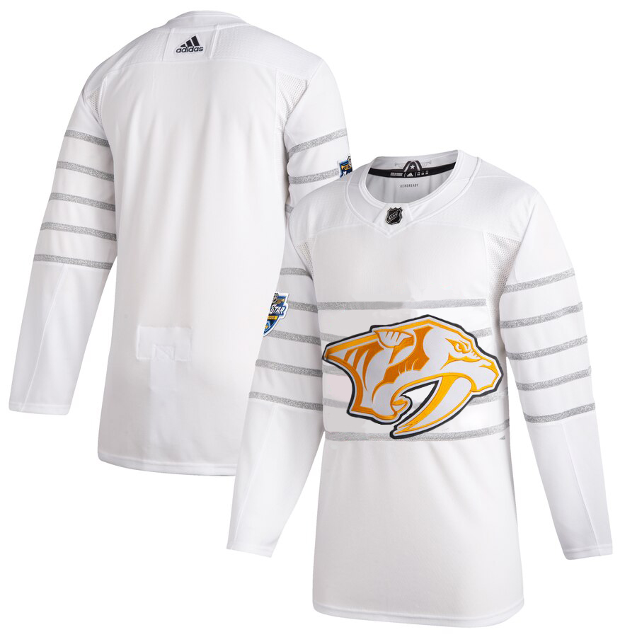 Men's Nashville Predators Adidas White 2020 NHL All-Star Game Authentic Jersey