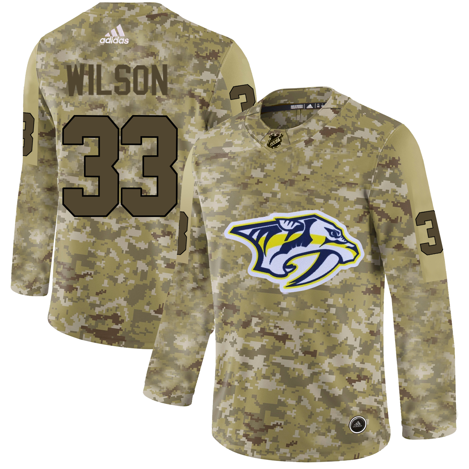 Adidas Predators #33 Colin Wilson Camo Authentic Stitched NHL Jersey