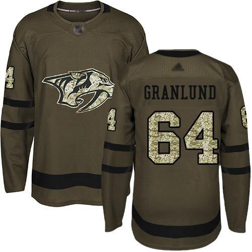 Adidas Predators #64 Mikael Granlund Green Salute to Service Stitched NHL Jersey