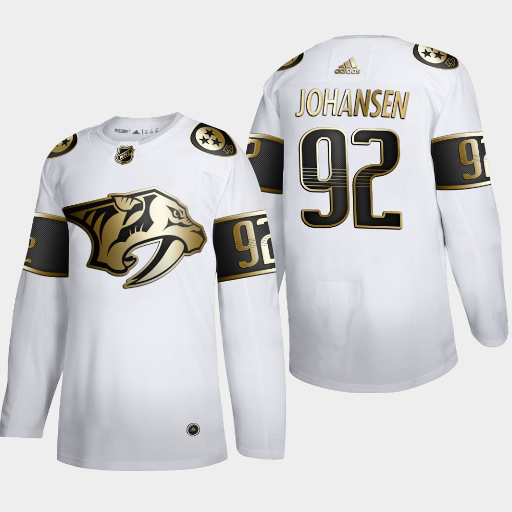 Nashville Predators #92 Ryan Johansen Men's Adidas White Golden Edition Limited Stitched NHL Jersey