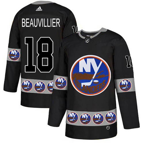Adidas Islanders #18 Anthony Beauvillier Black Authentic Team Logo Fashion Stitched NHL Jersey