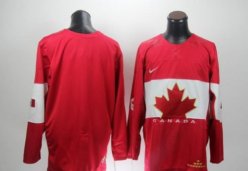 Olympic 2014 CA. Blank Red Stitched NHL Jersey