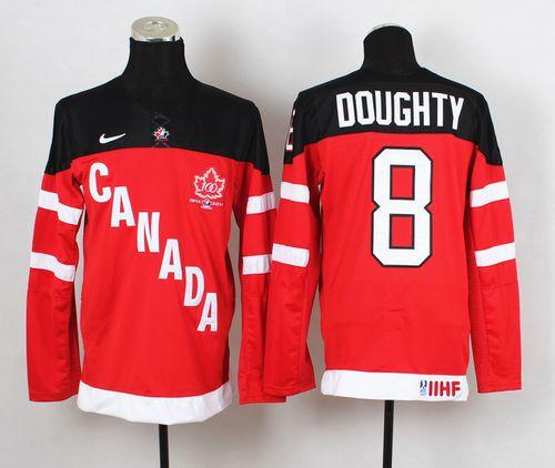 Olympic CA. #8 Drew Doughty Red 100th Anniversary Stitched NHL Jersey