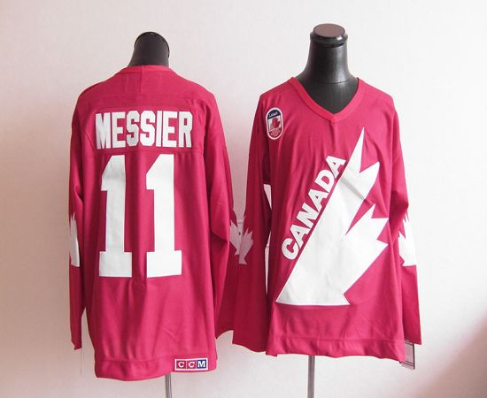 Olympic 1991 CA. #11 Mark Messier Red CCM Throwback Stitched NHL Jersey
