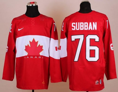 Olympic 2014 CA. #76 P.K Subban Red Stitched NHL Jersey