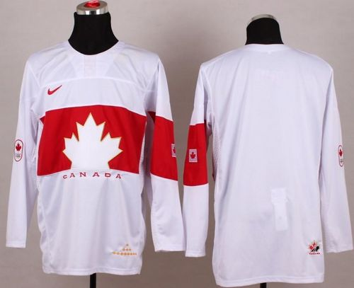 Olympic 2014 CA. Blank White Stitched NHL Jersey