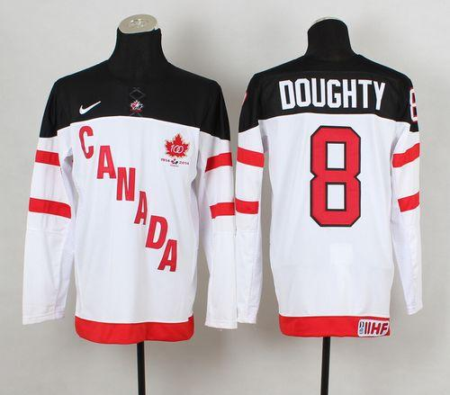 Olympic CA. #8 Drew Doughty White 100th Anniversary Stitched NHL Jersey