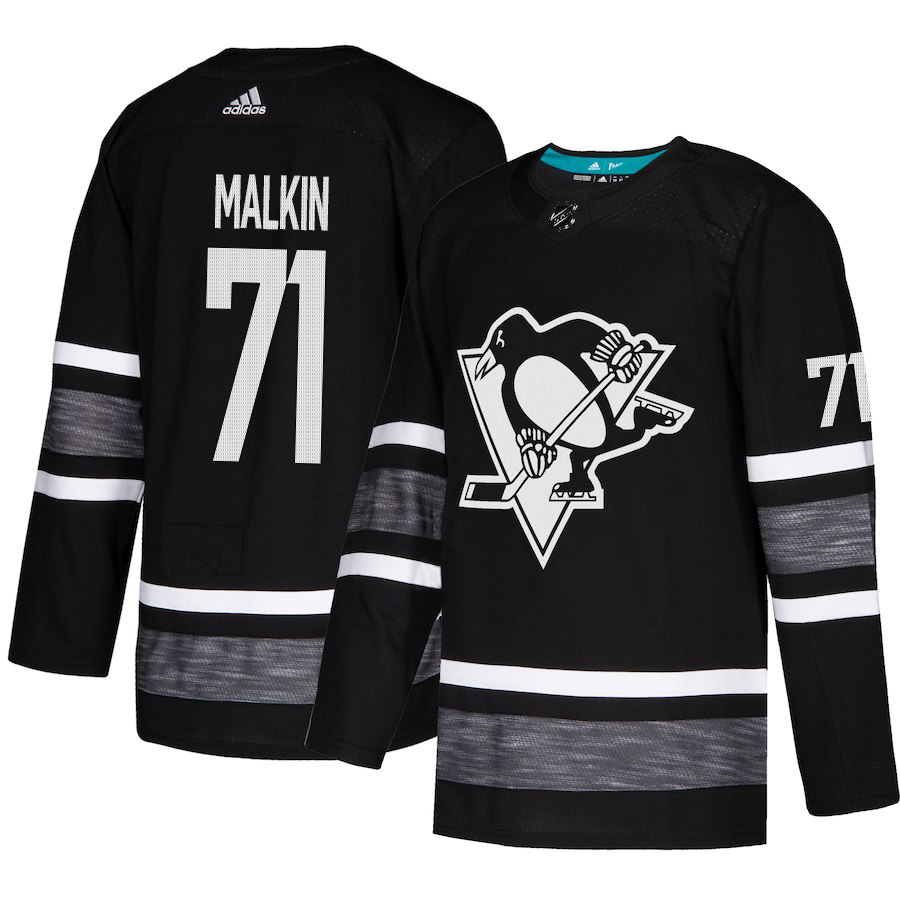Adidas Penguins #71 Evgeni Malkin Black 2019 All-Star Game Parley Authentic Stitched NHL Jersey