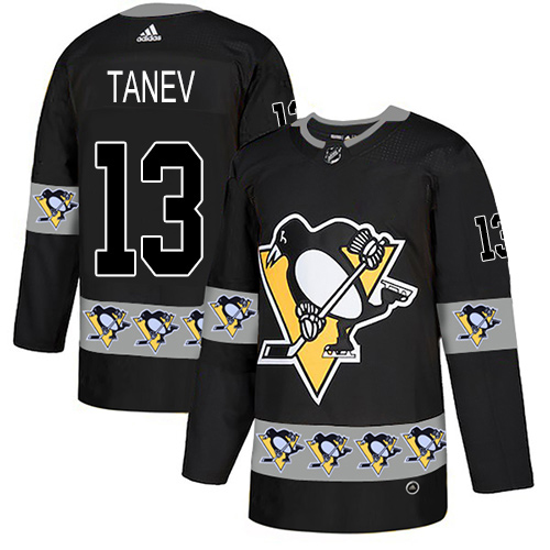 Adidas Penguins #13 Brandon Tanev Black Authentic Team Logo Fashion Stitched NHL Jersey