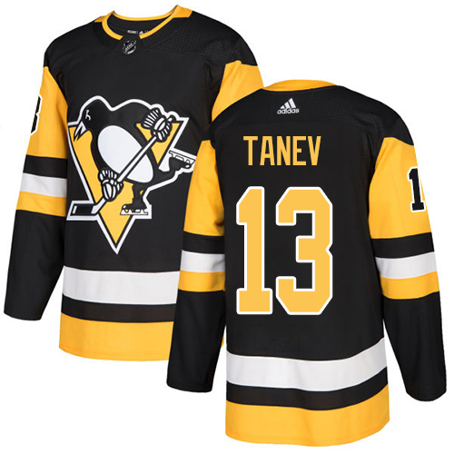 Adidas Penguins #13 Brandon Tanev Black Home Authentic Stitched NHL Jersey